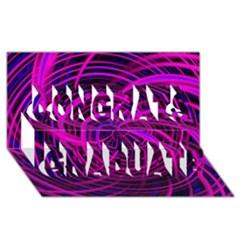 Happy, Black Pink Congrats Graduate 3D Greeting Card (8x4)