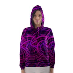 Happy, Black Pink Hooded Wind Breaker (women)