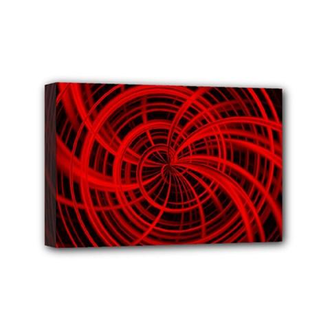 Happy, Black Red Mini Canvas 6  x 4