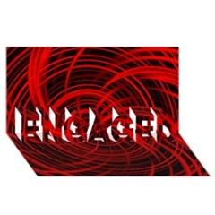Happy, Black Red Engaged 3d Greeting Card (8x4)