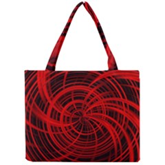 Happy, Black Red Tiny Tote Bags