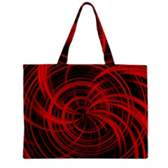 Happy, Black Red Zipper Tiny Tote Bags