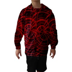 Happy, Black Red Hooded Wind Breaker (Kids)