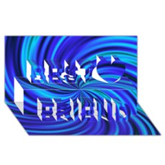 Happy, Blue Best Friends 3D Greeting Card (8x4)