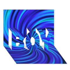 Happy, Blue BOY 3D Greeting Card (7x5)