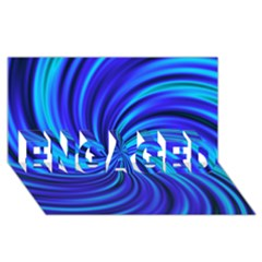 Happy, Blue ENGAGED 3D Greeting Card (8x4)