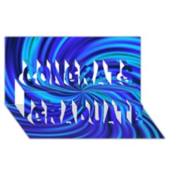 Happy, Blue Congrats Graduate 3d Greeting Card (8x4)