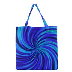 Happy, Blue Grocery Tote Bags