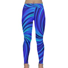 Happy, Blue Yoga Leggings