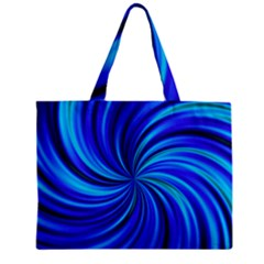 Happy, Blue Zipper Tiny Tote Bags