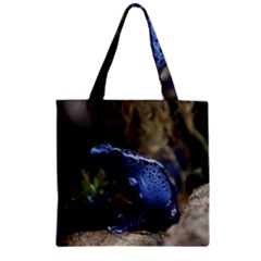 Blue Poison Arrow Frog Zipper Grocery Tote Bags
