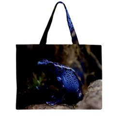 Blue Poison Arrow Frog Zipper Tiny Tote Bags