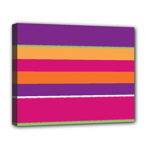 Jagged stripes Deluxe Canvas 20  x 16  (Stretched)