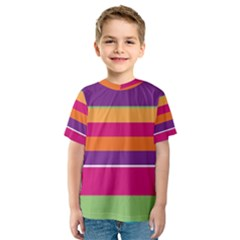 Jagged stripes Kid s Sport Mesh Tee