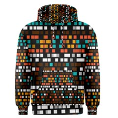 Squares Pattern In Retro Colors Men s Pullover Hoodie