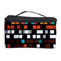 Squares pattern in retro colors Cosmetic Storage Case