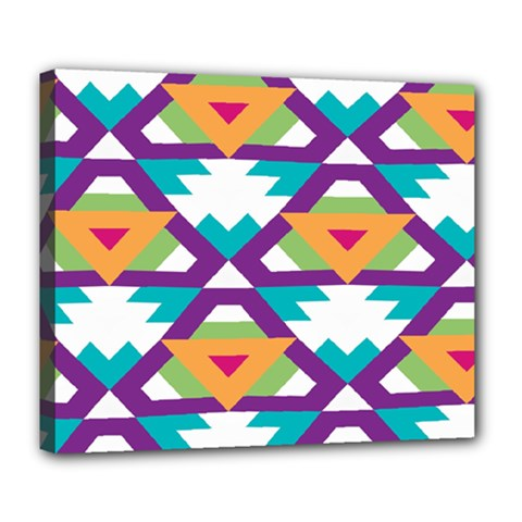 Triangles and other shapes pattern Deluxe Canvas 24  x 20  (Stretched)