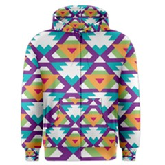Triangles And Other Shapes Pattern Men s Zipper Hoodie