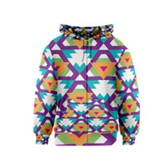 Triangles and other shapes pattern Kids Zipper Hoodie