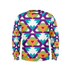 Triangles and other shapes pattern  Kid s Sweatshirt