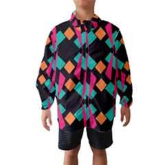 Shapes In Retro Colors  Wind Breaker (kids)