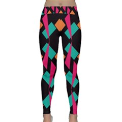 Shapes in retro colors  Yoga Leggings