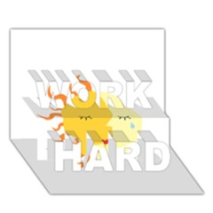 Coexist Work Hard 3d Greeting Card (7x5)