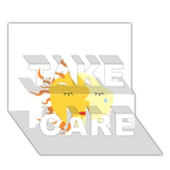 coexist TAKE CARE 3D Greeting Card (7x5)