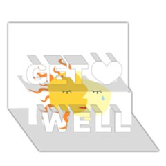 Coexist Get Well 3d Greeting Card (7x5)