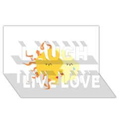 Coexist Laugh Live Love 3d Greeting Card (8x4)