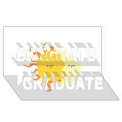 coexist Congrats Graduate 3D Greeting Card (8x4)
