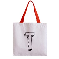 Letter T  Grocery Tote Bag