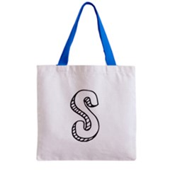 Letter S Grocery Tote Bag
