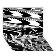 Bw Glitch 1 Love Bottom 3d Greeting Card (7x5)