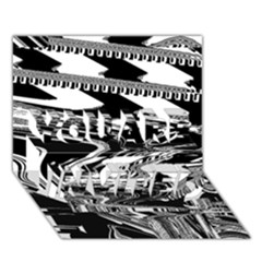 Bw Glitch 1 YOU ARE INVITED 3D Greeting Card (7x5)