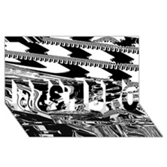 Bw Glitch 1 BEST BRO 3D Greeting Card (8x4)