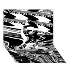 Bw Glitch 1 Ribbon 3D Greeting Card (7x5)