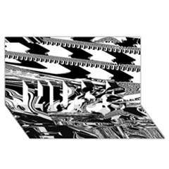 Bw Glitch 1 Hugs 3d Greeting Card (8x4)