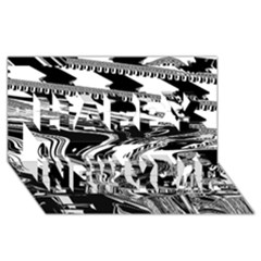 Bw Glitch 1 Happy New Year 3D Greeting Card (8x4)