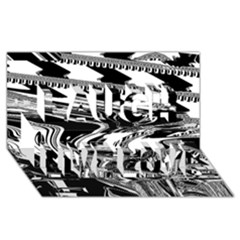 Bw Glitch 1 Laugh Live Love 3d Greeting Card (8x4)