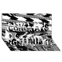 Bw Glitch 1 Congrats Graduate 3d Greeting Card (8x4)