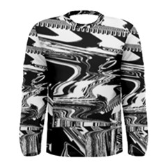 Bw Glitch 1 Men s Long Sleeve T Shirts