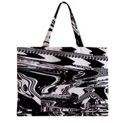 Bw Glitch 1 Zipper Tiny Tote Bags