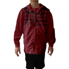 Aztec Red Hooded Wind Breaker (kids)
