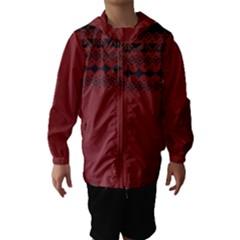 Aztec Red Hooded Wind Breaker (Kids)
