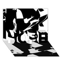 Bw Glitch 2 HOPE 3D Greeting Card (7x5)