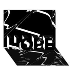 Bw Glitch 3 Hope 3d Greeting Card (7x5)