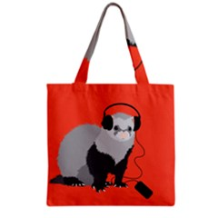 Funny Music Lover Ferret Grocery Tote Bags