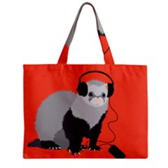 Funny Music Lover Ferret Tiny Tote Bags