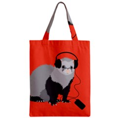 Funny Music Lover Ferret Classic Tote Bags